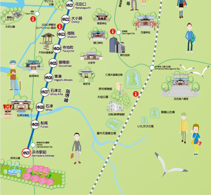 Route Map Hankai Tramway Co., Ltd
